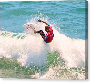 Kelly Slater Us Open Of Surfing 2012     8 Canvas Print by Jason Waugh
