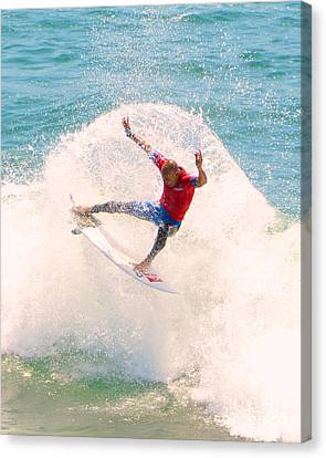 Kelly Slater Canvas Print - Kelly Slater Us Open Of Surfing 2012   2 by Jason Waugh