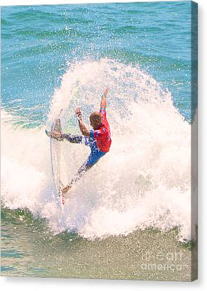 Kelly Slater Us Open Of Surfing 2012    5 Canvas Print by Jason Waugh