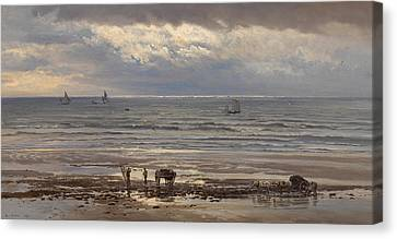 Kelp Gatherers Canvas Print by Henry Moore