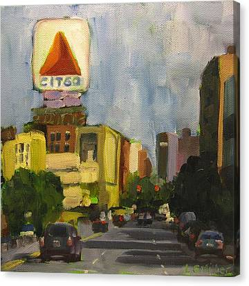 Kenmore Square Canvas Print by Laurie G Miller