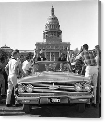 Democrats Canvas Print - Kennedy And Johnson In 1960 by Everett
