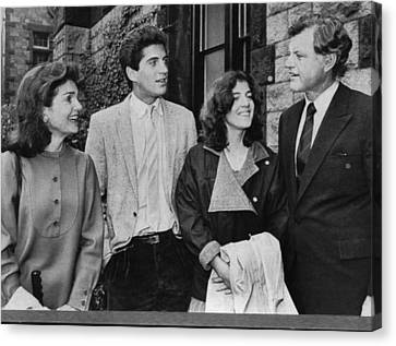 Kennedy Family. From Left  Former First Canvas Print by Everett