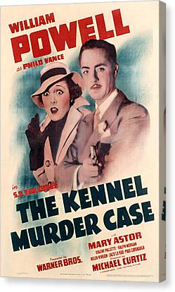 Kennel Murder Case, The, Mary Astor Canvas Print