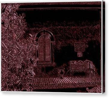 Kenner Bench Canvas Print by Marian Hebert