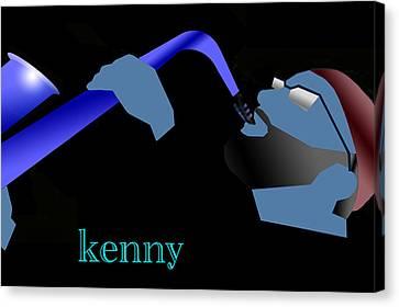 Canvas Print - Kenny Garrett Blue by Victor Bailey