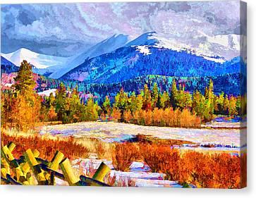 Canvas Print featuring the digital art Kenosha Pass by Brian Davis