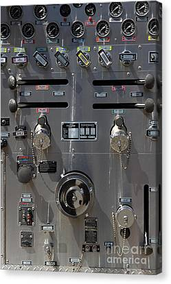 Kensington Fire District Fire Engine Control Panel . 7d15857 Canvas Print by Wingsdomain Art and Photography