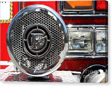 Kensington Fire District Fire Engine Siren . 7d15880 Canvas Print by Wingsdomain Art and Photography