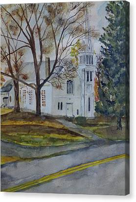 Kent Connecticut Canvas Print - Kent Church by Christian Lebraux Kennedy