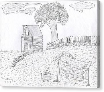 Kentucky Cabin Canvas Print