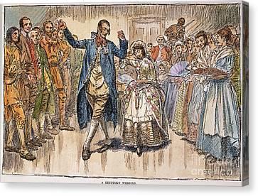 Kentucky: Colonial Wedding Canvas Print by Granger