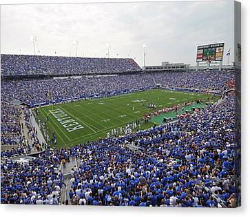 Kentucky Wildcats Canvas Print - Kentucky Commonwealth Stadium by University of Kentucky
