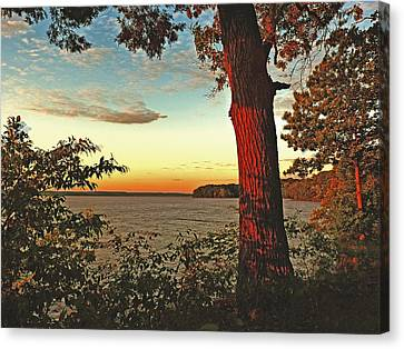 Canvas Print featuring the photograph Kentucky Lake Sunrise by William Fields