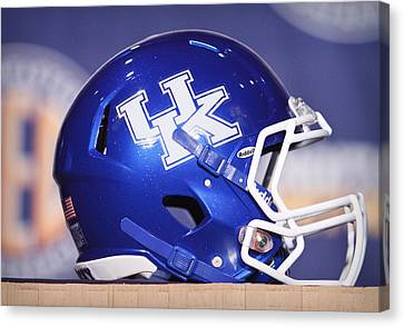 Kentucky Wildcats Football Helmet Canvas Print by Icon Sports Media
