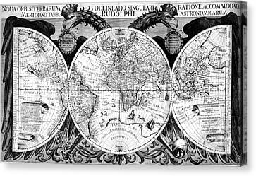 Keplers World Map, Tabulae Canvas Print by Science Source