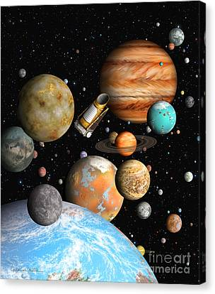 Kepler's Worlds Canvas Print by Lynette Cook