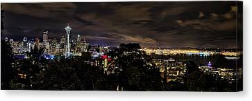 Kerry Park Night View Canvas Print by James Heckt