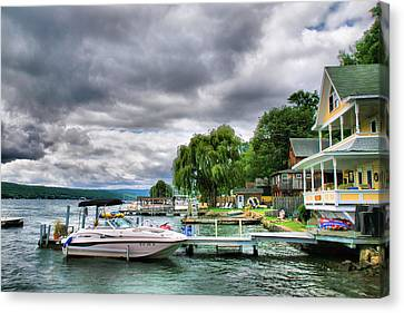 Keuka Lake Shoreline Canvas Print by Steven Ainsworth