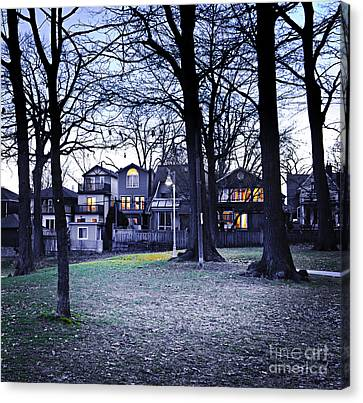 Kew Park At Dusk Canvas Print by Elena Elisseeva