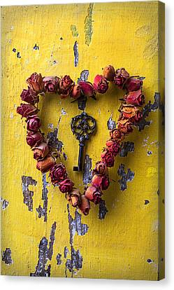 Key To My Heart Canvas Print by Garry Gay