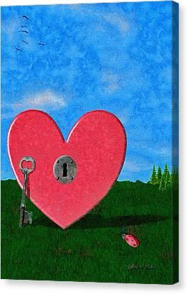 Key To My Heart Canvas Print by Jeffrey Kolker