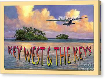 Key West Air Force Canvas Print by David  Van Hulst