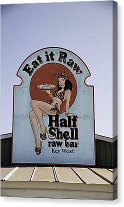 Key West Eat It Raw  Canvas Print by Paul Plaine