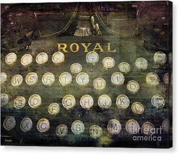 Keyboard Canvas Print by Eena Bo