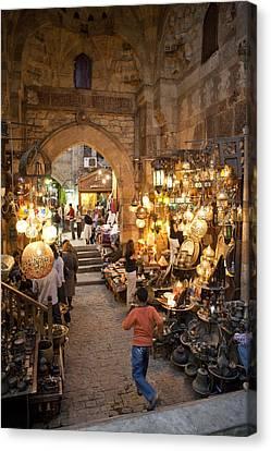 Khan El Khalili Market In Cairo Canvas Print by Taylor S. Kennedy