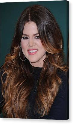 Khloe Kardashian At In-store Appearance Canvas Print by Everett