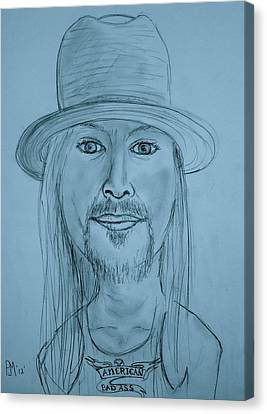 Kid Rock Canvas Print by Pete Maier