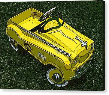 Kid's Pedal Car Taxi Canvas Print by Samuel Sheats