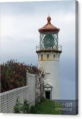 Kilauea Lighthouse  Kauai Canvas Print by Louise Peardon