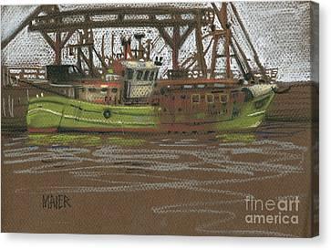 Kilmore Quay Fishing Trawler Canvas Print by Donald Maier