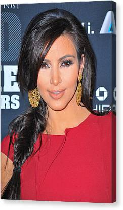 Kim Kardashian At Arrivals For 2011 Canvas Print by Everett
