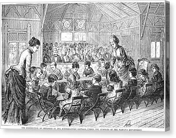 Kindergarten, 1876 Canvas Print by Granger