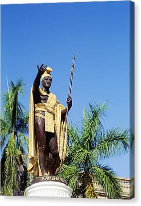 Aliiolani Canvas Print - King Kamehamea by Greg Vaughn - Printscapes