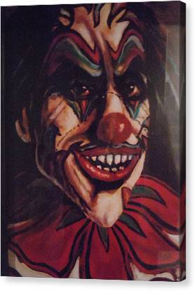 Canvas Print featuring the painting King Klown by James Guentner