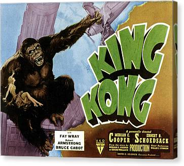King Kong, 1933 Rko Re-issue Poster Canvas Print by Everett