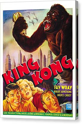 King Kong, Bottom Left, From Left Bruce Canvas Print