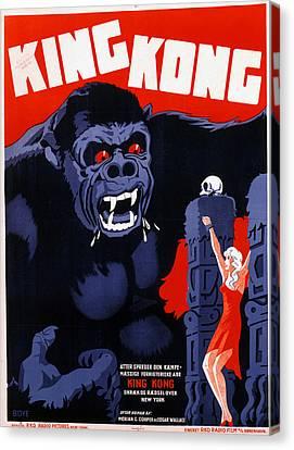 King Kong, Danish Poster Art, 1933 Canvas Print by Everett