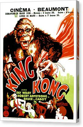 King Kong, French Poster Art, 1933 Canvas Print by Everett