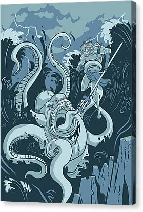 King Neptune Canvas Print by Michael Myers