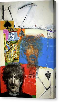 Canvas Print featuring the mixed media King Of Spades 48-52 by Cliff Spohn