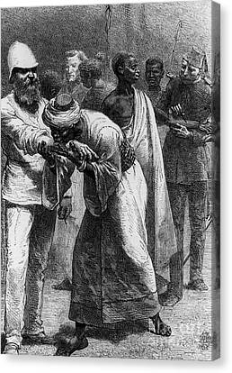 Abolitionist Canvas Print - King Riouga And Samuel Baker, 1869 by Photo Researchers