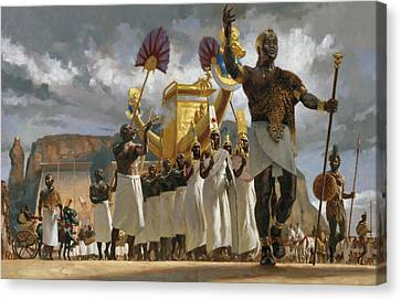 King Taharqa Leads His Queens Canvas Print by Gregory Manchess