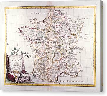 Kingdom Of France Divided Into Its Governments Canvas Print by Fototeca Storica Nazionale
