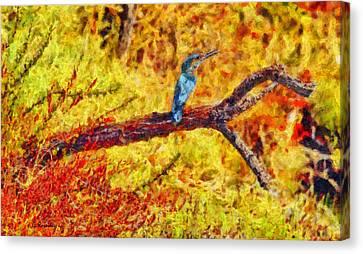 Kingfisher Canvas Print by George Rossidis