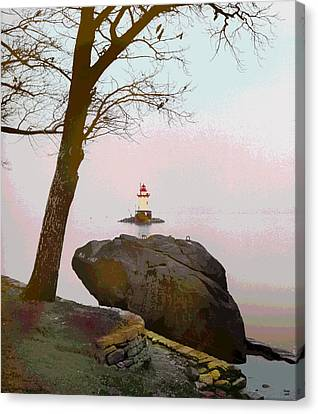 Kingsland Point Park Lighthouse Canvas Print by Charles Shoup